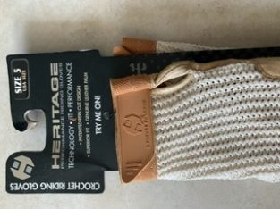 Brand new crochet riding gloves