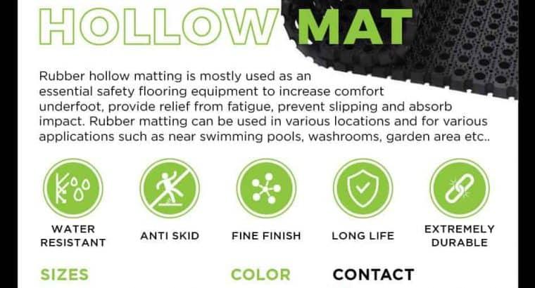 Heavy Duty Rubber Hollow Mat